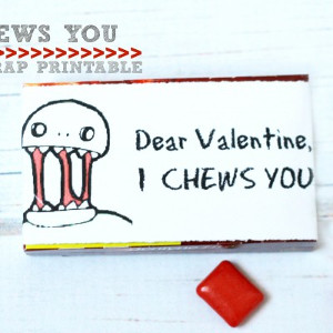 I Chews You Zombie Valentine