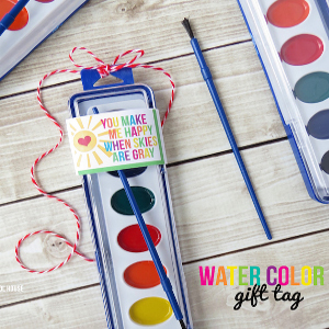 Watercolor Gift Tag
