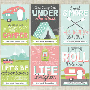 Camping Valentine's Day Cards