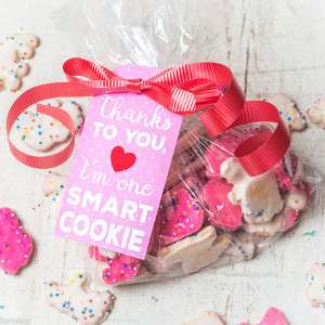 Valentine Pink Cookie Gift Tag