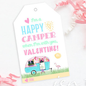 Happy Camper Valentine Tag