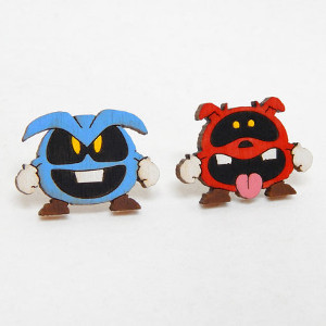 February Favorites: Dr. Mario Virus Earrings from Obake Style