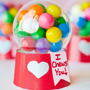 Mini Gumball Machine Valentines