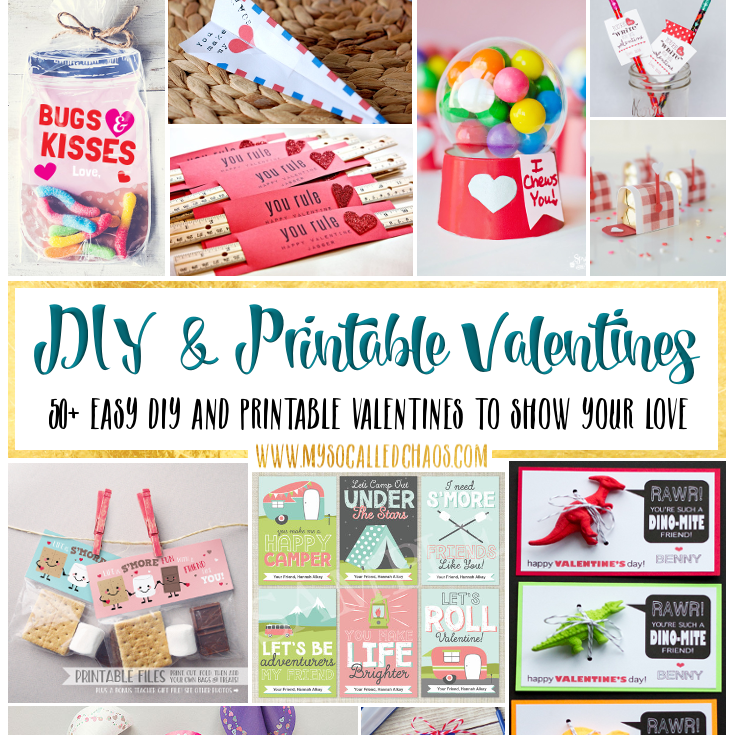 50+ Easy DIY & Printable Valentines