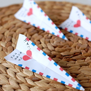 Paper Airplane Valentine Printable