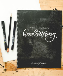 February Favorites: Hand Lettering Workbook Begintermediate Guide