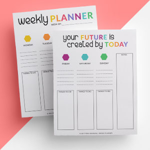 Free Printable Planner Pages from Pink Hexagon
