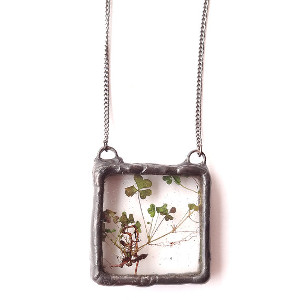 Real Roots & Clover Necklace