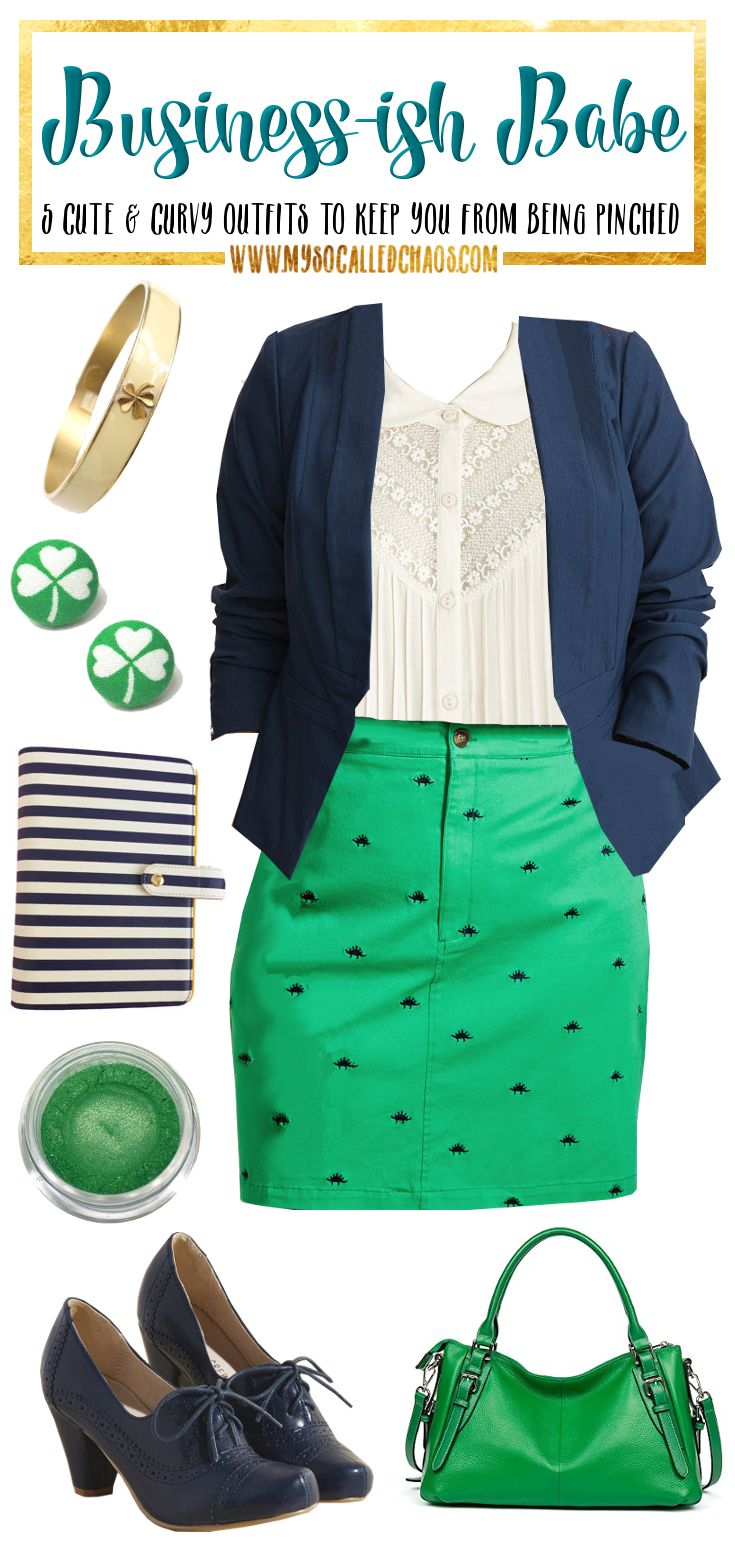 5 Curvy St. Patrick's Day Looks to Keep You From Getting Pinched: Business-ish Babe