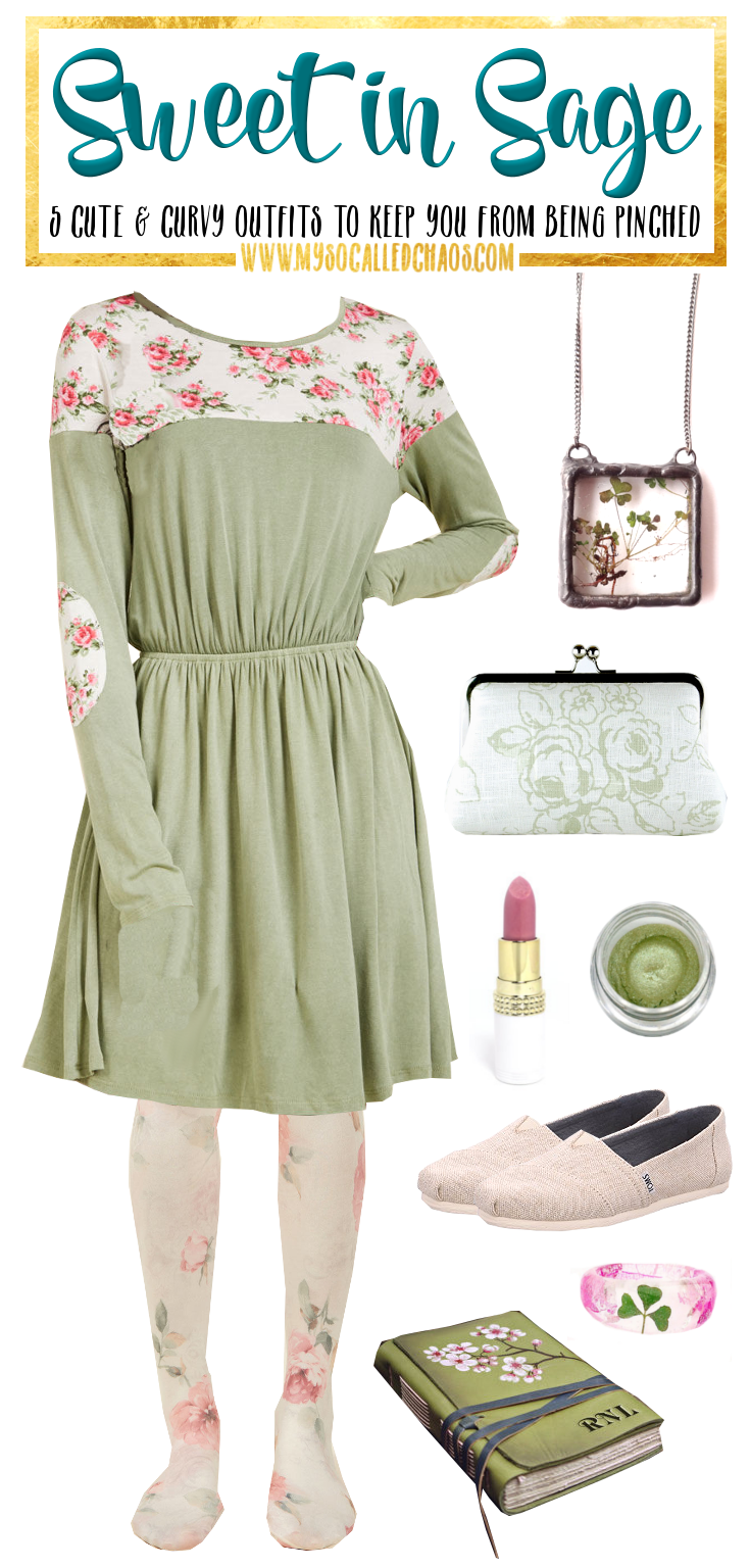 5 Curvy St. Patrick's Day Looks to Keep You From Getting Pinched: Sweet in Sage