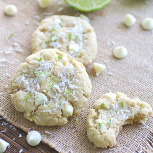 Coconut-Lime White Chocolate Chip Cookies