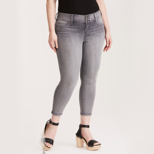 Pewter Grey Wash Cropped Jeggings