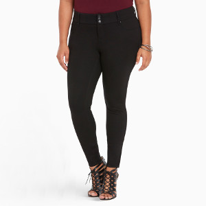 Black All-Nighter Ponte Jegging Pant at Torrid