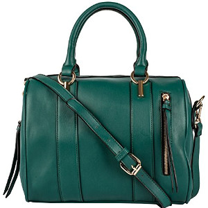 Large Structured Tote Shoulder Bag in Peacock Green