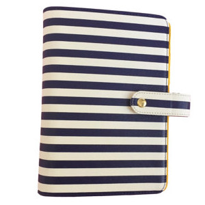 Navy & White Stripe Planner