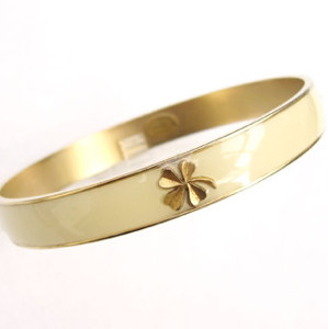 Vintage Enamel Shamrock Bangle