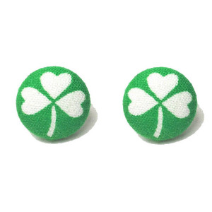 Clover Cutie Button Earrings