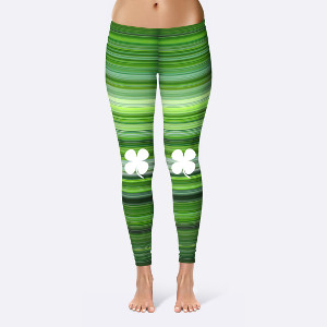 Curvy girl St. Patrick's Day Leggings
