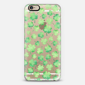 Lucky Shamrock Watercolor Phone Case