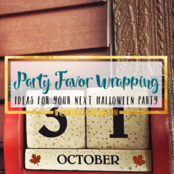 3 Party Favor Wrapping Ideas for Your Next Halloween Party
