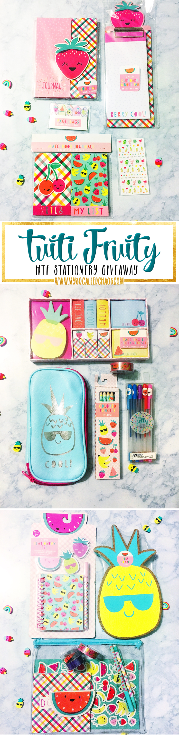 Tuitti Fruity Stationery Giveaway