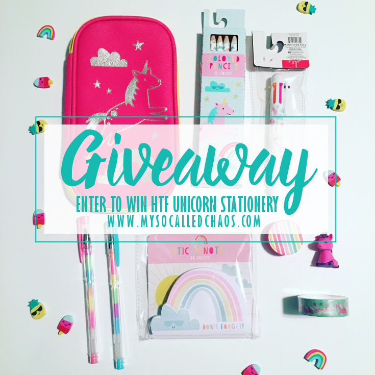 Unicorn Stationery Giveaway