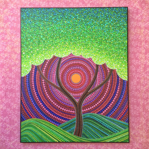 Colorful Tree of Peace Print