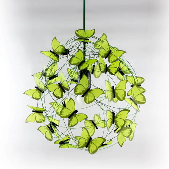 Green Butterflies Hanging Lamp