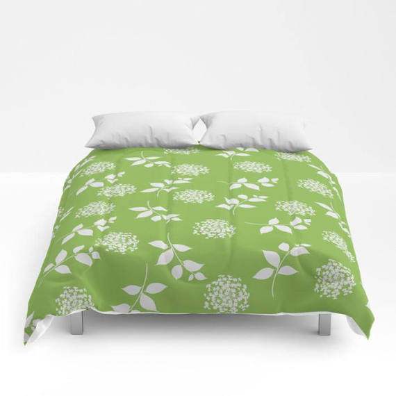 Spring Greenery Comforter or Duvet Cover