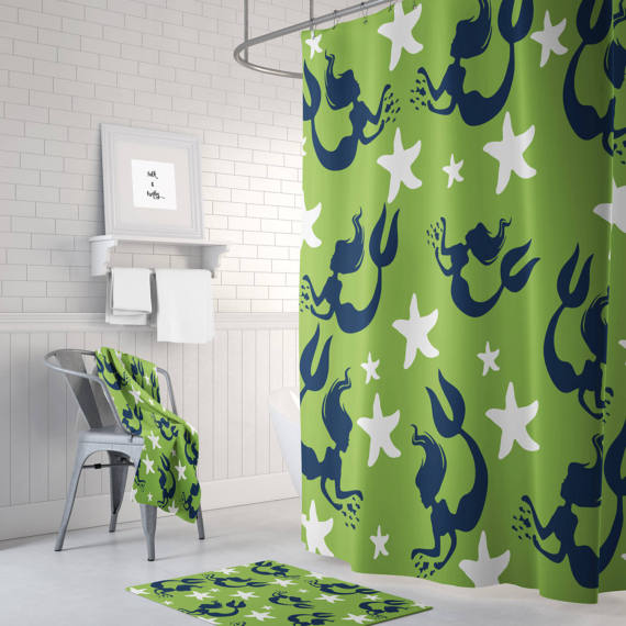 Mermaid Starfish Bathroom Set