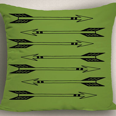 Green Patio Pillow Cover