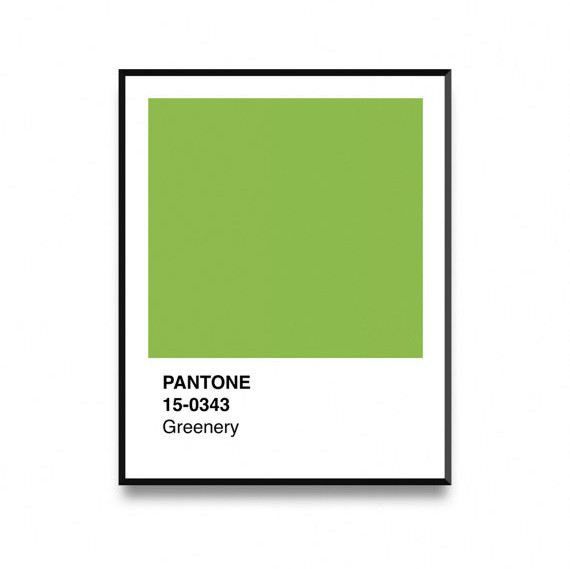 Pantone 2017 Greenery Wall Art