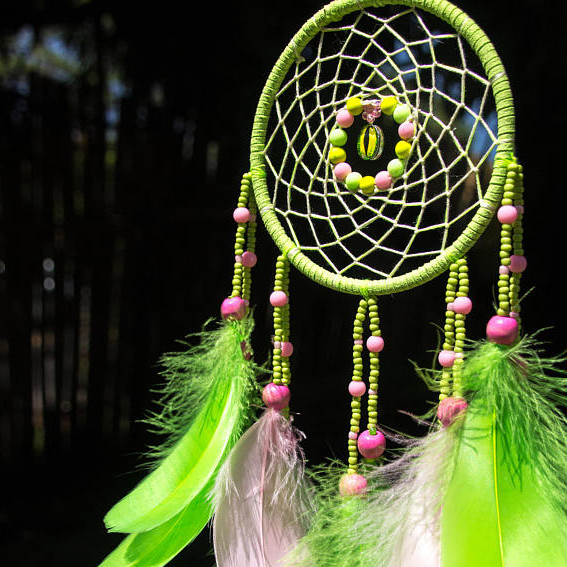 Green Authentic Dreamcatcher