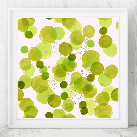 Greenery Abstract Print