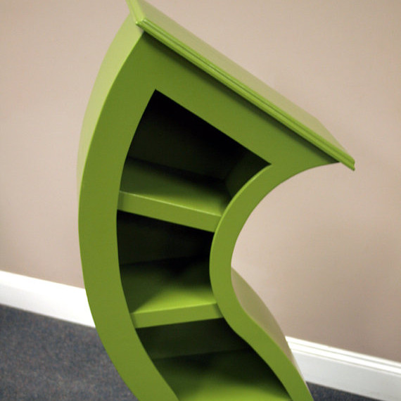 Handmade 4ft Curved Bookshelf