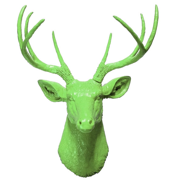 Green (Fake) Deer Head