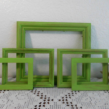 Green Shabby Chic Frame Set