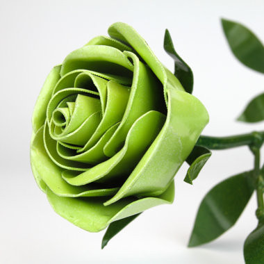 Metal Green Rose