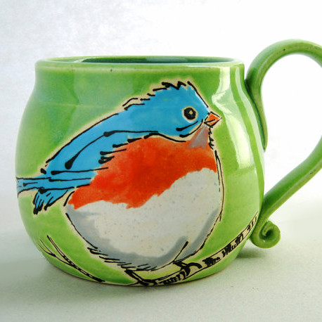 Ceramic Happy Bird Mug