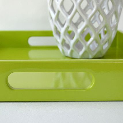 Fresh Green Lacquered Serving Tray