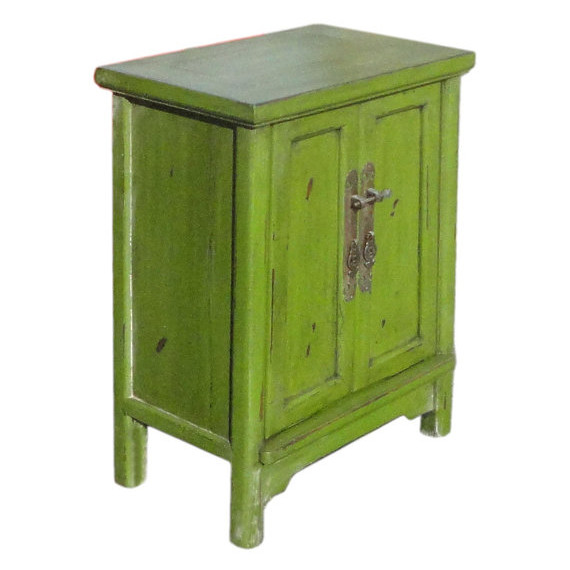 Chinese Green End Table