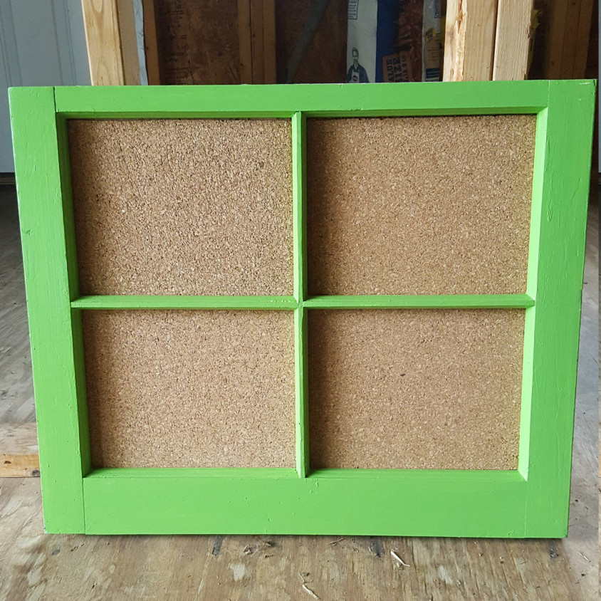 Green Frame with Cork Board