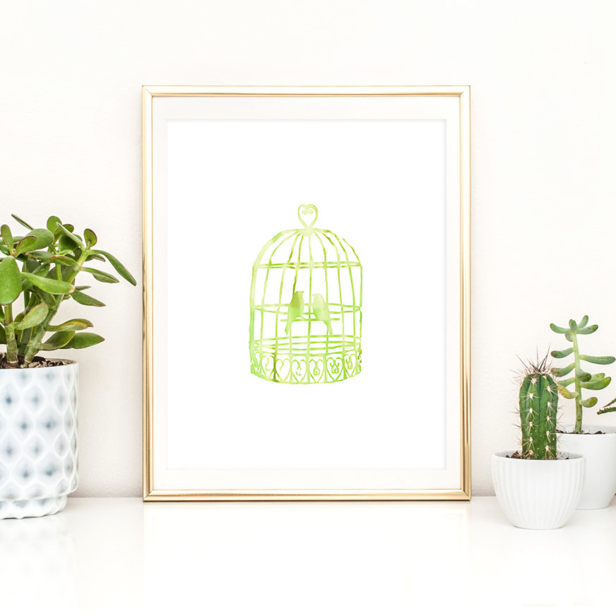 Birdcage Nursery Printable