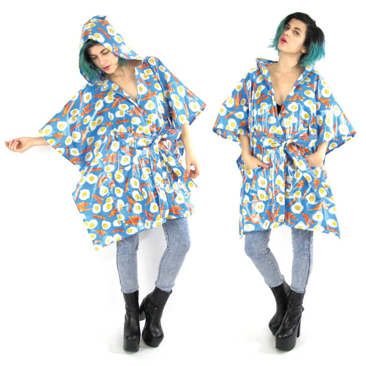 Bacon and Eggs Rain Poncho