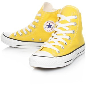 Yellow Converse High-Tops