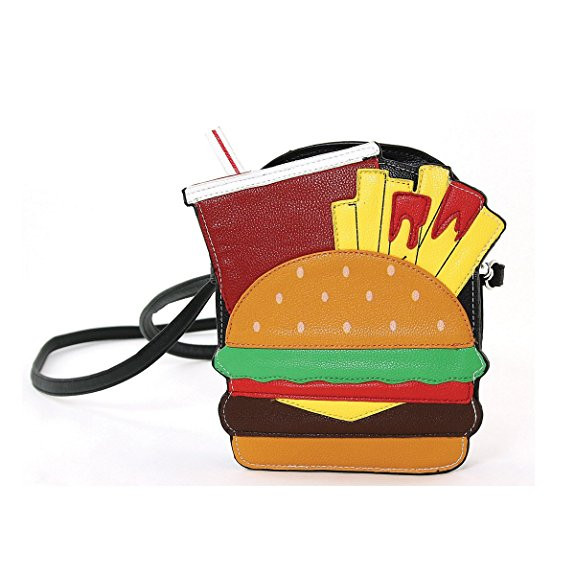 Yummy Hamburger, Fries And Soda Bag