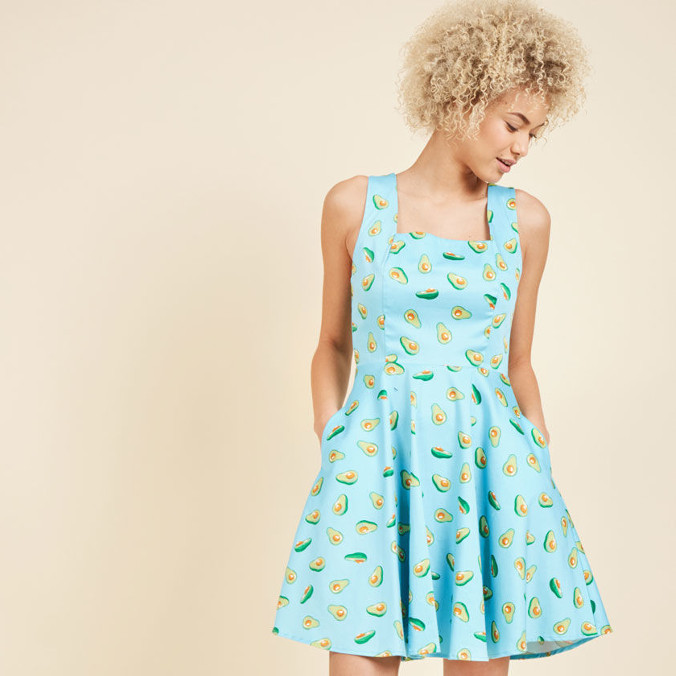 Guac on the Wild Side Mini Dress from ModCloth