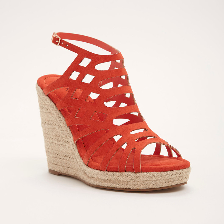 Cutout Espadrille Wedges