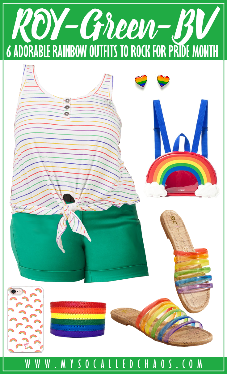 6 Adorable Rainbow Outfits to Rock for Pride Month (or Always): ROY-Green-BV