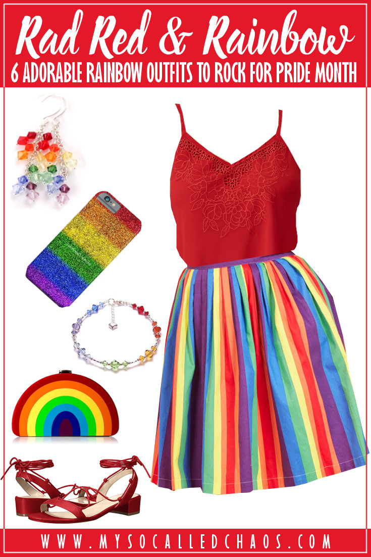 6 Adorable Rainbow Outfits to Rock for Pride Month (or Always): Rad Red Rainbow
